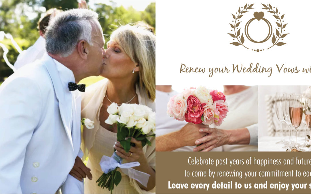 Renew your wedding vows with us
